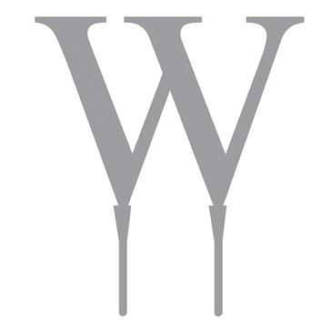 """Tortenfigur Monogramm """"W"""""""