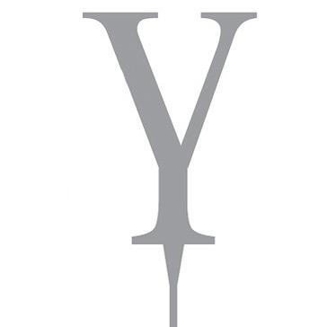 """Tortenfigur Monogramm """"Y"""""""