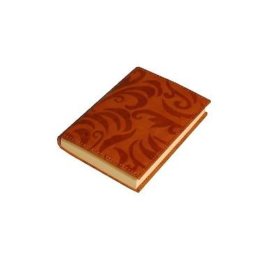 Notizbuch Granada rotbraun mit Ledereinband