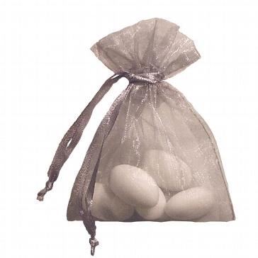 Organzasäckchen silber