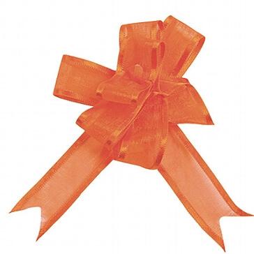 Geschenkverpackung Organzaschleife Maxi in Orange
