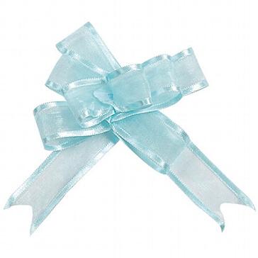 Organzaschleife Mini hellblau für Hochzeitsdeko