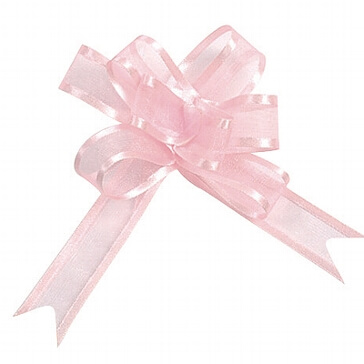 Organzaschleife Mini rosa für Tischdeko