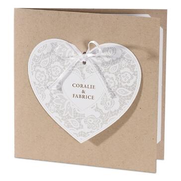 Hochzeitseinladung in Kraftpapieroptik