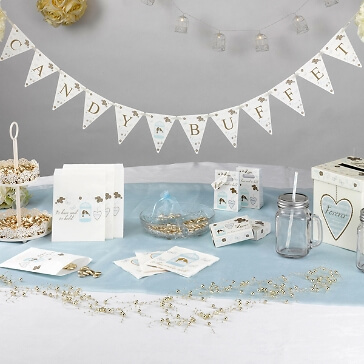 Papier Wimpelkette Candy Buffet mit Vogelpaar