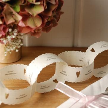 """Papier-Kette """"Just Married mit Herz"""" kreative Hochzeitsdekoration"""