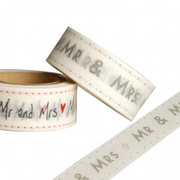 """Papier-Masking Tape """"Mr & Mrs"""" - DIY zur Hochzeit"""