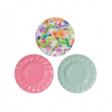 Papierteller Floral - bunte Teller
