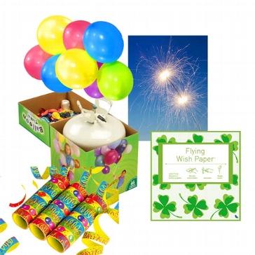 """Partyset """"Deko"""" - Luftballons - Wunderkerzen - Flying Wish Paper"""