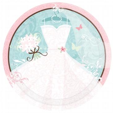 """Pappteller """"Brautkleid"""", groß, für die Hochzeit oder den JGA"""