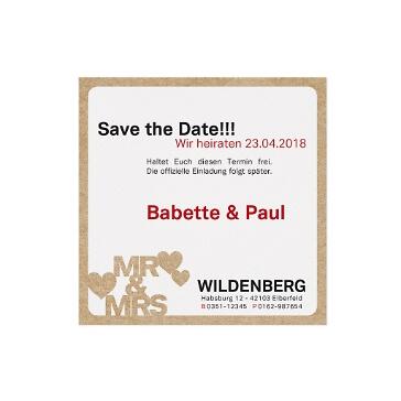 Save the date Karte mit Mr&Mrs Aufdruck