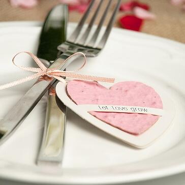 Plantable Wishes Herz als Gastgeschenk