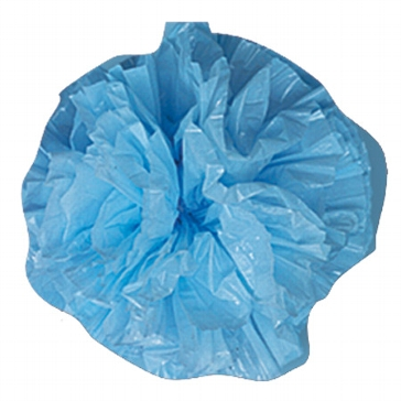 Plastic Pompoms, blau