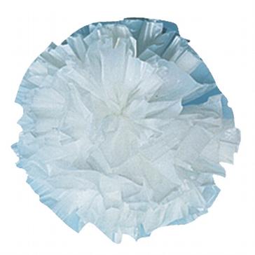 Plastic Pompoms, weiß