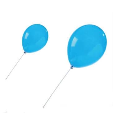 Ballonhalterung in Weiß