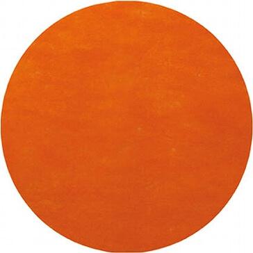Platzset Kreis orange als Tischdeko