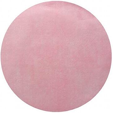 Platzset Kreis aus rosafarbenem Vlies für die Hochzeit