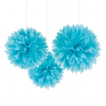 Pompoms Fluffy, blau