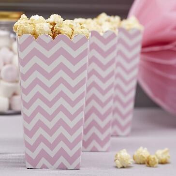 Popcorn-Tüten in Rosa