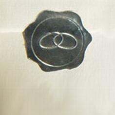 """10 Verschlusssiegel """"Ringe"""" in Silber"""