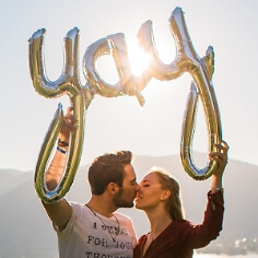 Folienballon Schriftzug