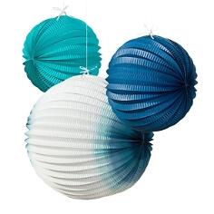 """Lampions """"Meeresbriese"""", blau-weiß"""