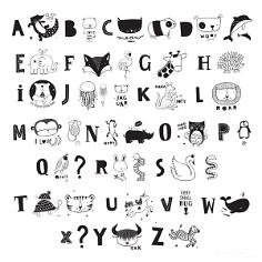 Buchstabenset für Lightbox