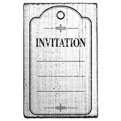 vintage stempel invitation