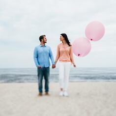 Luftballons rund, pastell-pink, 2 St.