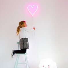 LED Herz in Neonpink