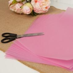 10 Blatt Transparentpapier, rosa, A4