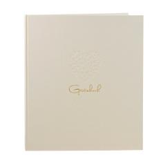 """Gästebuch """"Herzensfreude"""", beige"""