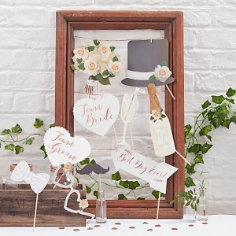 photobooth set vintage rosegold