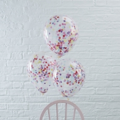 Ballons mit Konfetti, bunt, 5 St.
