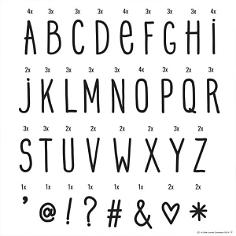 """Buchstabenset für Lightbox """"Handschrift"""""""