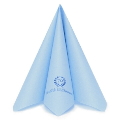 Serviette Airlaid Dinner Hellblau
