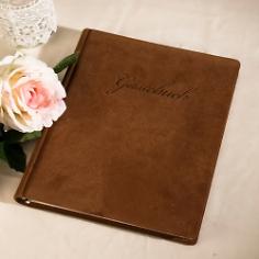 Gästebuch Echtes Wildleder
