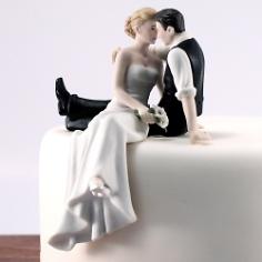 """Tortenfigur Hochzeit """"in Liebe"""""""