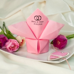 Serviette Airlaid Dinner Rosa personalisiert