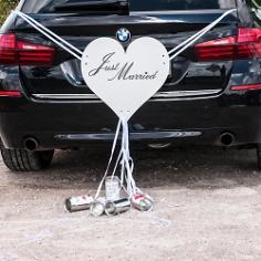 Autoschmuck Hochzeit Herz