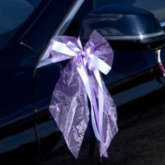 Autoschleife Tüll lila