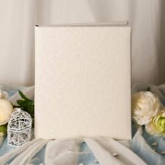 """Gästebuch Hochzeit """"Luxor"""", weiß-creme"""