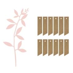 Platzkarten Deko Hochzeit Kraftpapier Rosa