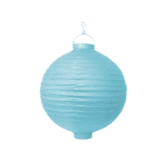 LED-Lampion, 20 cm, hellblau