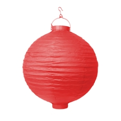 LED-Lampion, 30 cm, rot