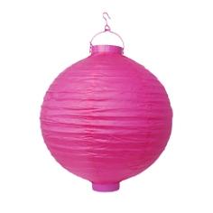 LED-Lampion, 30 cm, pink