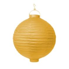LED Lampion 30 cm Gelb