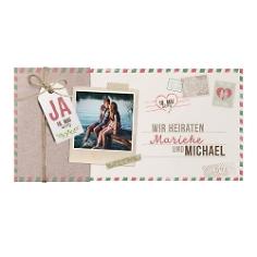 """Hochzeitseinladung """"Susi"""" in Postkartenoptik"""
