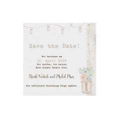 "Save-the-Date-Karte oder Dankeskarte ""Lilly"" Vintage Look"