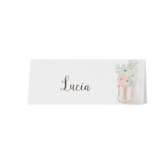 """Tischkarte """"Lilly"""" Vintage Look, 6 St., bedruckbar"""